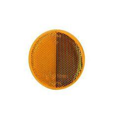 Reflectorizant galben rotund cu surub