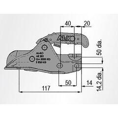 Cupla remorcare  AL-KO AK301 D50