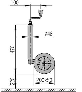 Roata de manevra AL-KO 200X50 48MM
