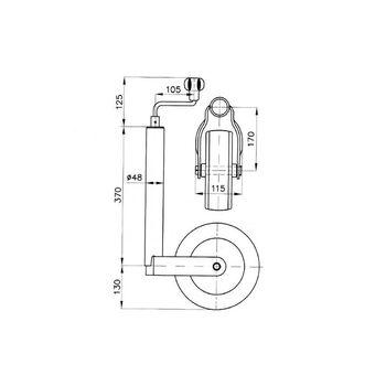 Roata de manevra TK 48-200-40 AC