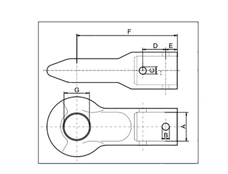 Ochet remorcare DIN 40 DIA 60 M14/M14 ZN