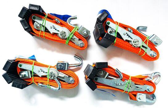 Set chingi ancorare autoturisme 3 puncte, lungime 2.5m, latime 3,5 cm